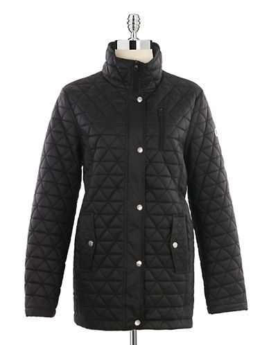 London Fog Diamond Quilted Jacket-BLACK-X-Small 88054148_BLACK_X-Small