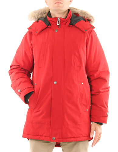 Company Of Adventurers Essential Down-Filled Parka-RED-Small