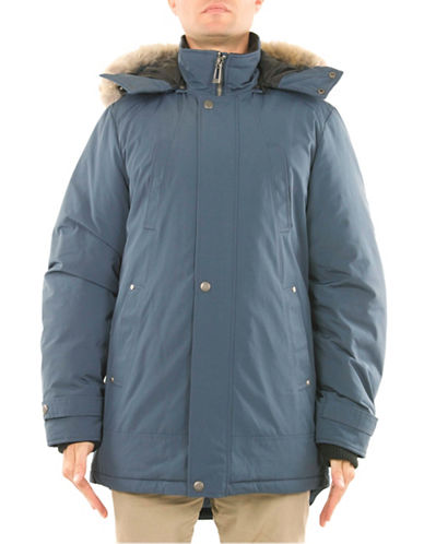 Company Of Adventurers Essential Down-Filled Parka-BLUE-X-Large