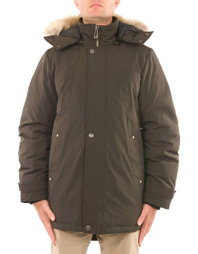 Company Of Adventurers Essential Down-Filled Parka-DARK GREEN-Large