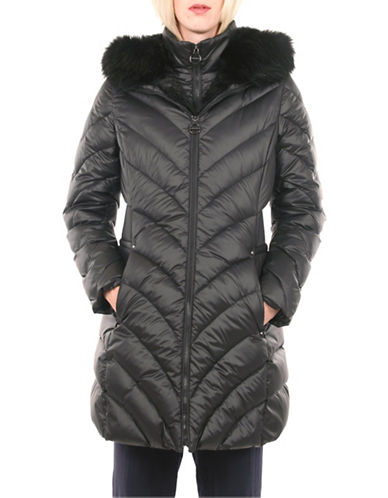 Laundry By Shelli Segal Chevron Down Puffer Jacket-BLACK-Small