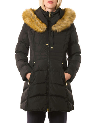 Laundry By Shelli Segal Oversized Hood Down Puffer Jacket-BLACK-Small 88523150_BLACK_Small