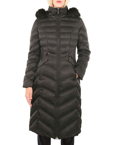 Laundry By Shelli Segal Full Length Down Puffer Jacket-BLACK-Small 88523155_BLACK_Small