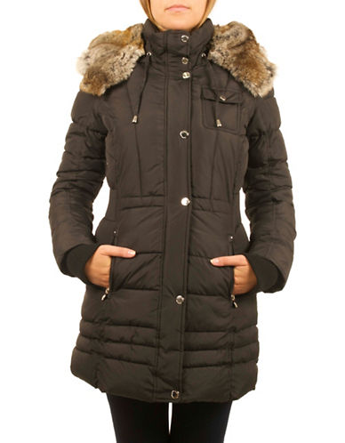 Laundry By Design Thematic Puffer Jacket-BLACK-X-Small 88525226_BLACK_X-Small