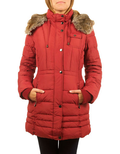 Laundry By Design Thermatic Puffer Jacket-RED-X-Small 88525231_RED_X-Small