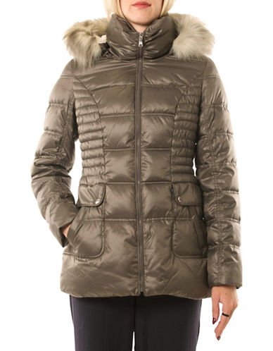 Laundry By Design Short Thermatec Puffer Jacket-GREY-Small 88525242_GREY_Small
