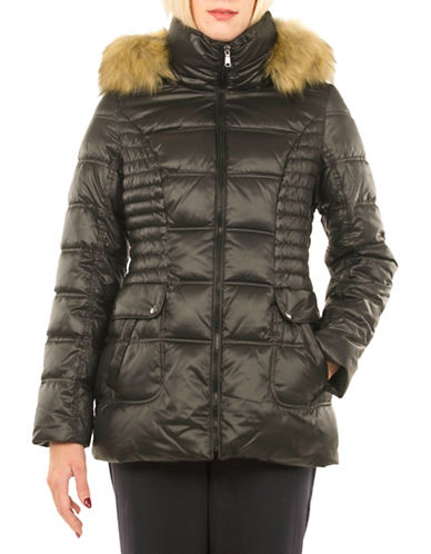 Laundry By Design Short Thermatec Puffer Jacket-BLACK-X-Small