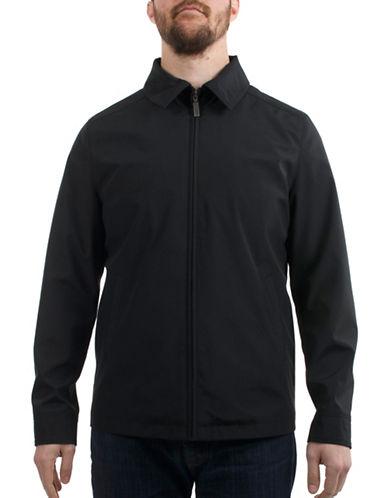 London Fog Bonded Spring Jacket-BLACK-Medium