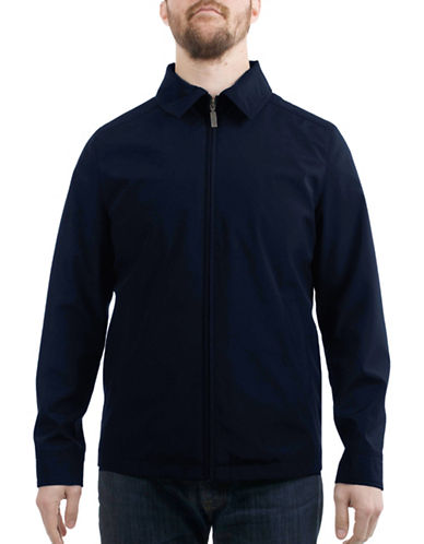 London Fog Bonded Spring Jacket-NAVY-Small