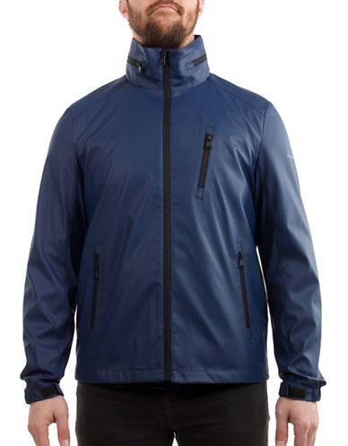 Perry Ellis Stretch Raincoat-BLUE-Large