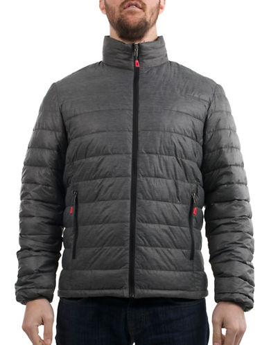 London Fog Quilted Packable Jacket-GREY-Small 88845903_GREY_Small