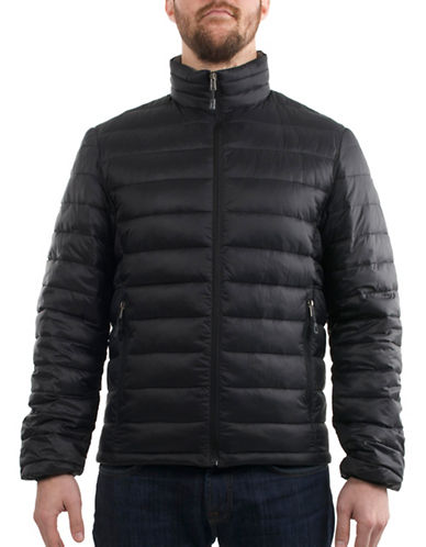 London Fog Quilted Packable Jacket-BLACK-Medium 88845900_BLACK_Medium