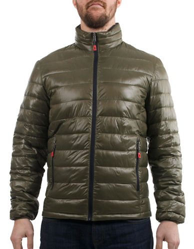 London Fog Quilted Packable Jacket-GREEN-Small 88845907_GREEN_Small