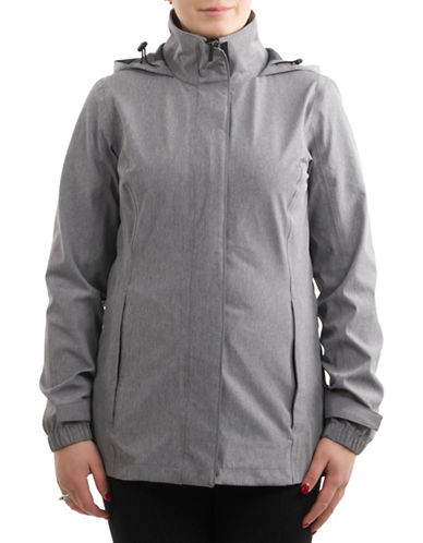 London Fog Mechanical Stretch Jacket-LIGHT GREY-Small