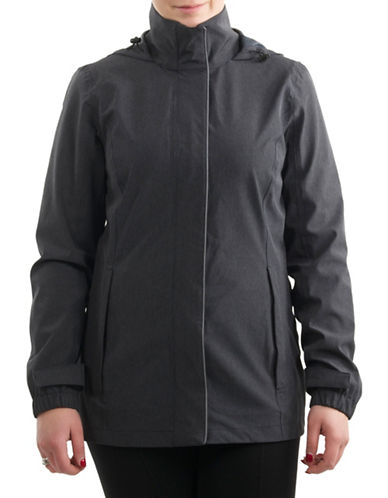 London Fog Mechanical Stretch Jacket-BLACK-Medium