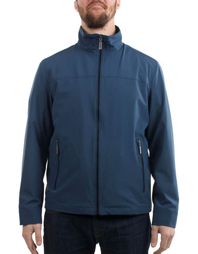 London Fog Zip-Front Spring Jacket-NAVY-Small