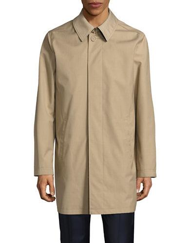 London Fog Laminated Rain Tech Jacket-BEIGE-40 Regular
