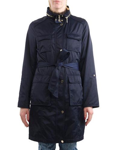 T Tahari Anorak Belted Jacket-NAVY-Large