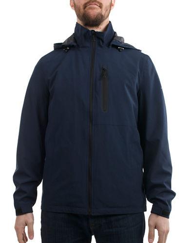 Perry Ellis Stand Collar Stretch Jacket-BLUE-Medium