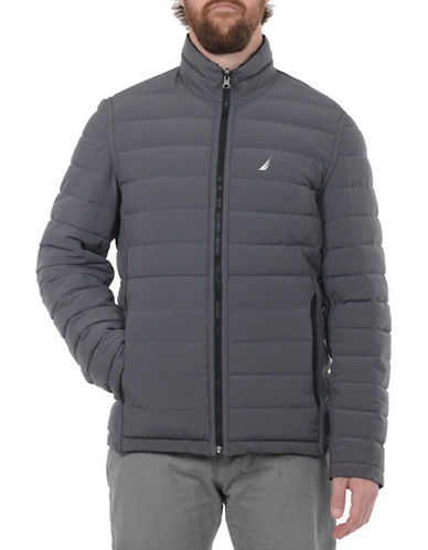Nautica Reversible Quilted Jacket-DARK GREY-Small
