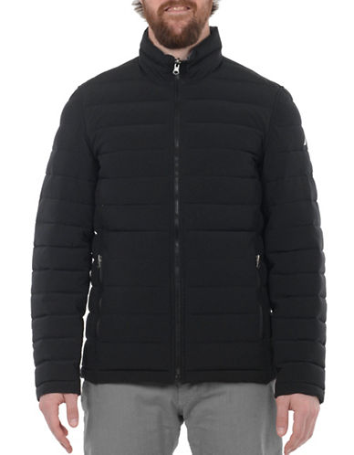 Nautica Reversible Quilted Jacket-BLACK/GREY-Large