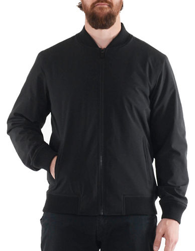 Perry Ellis Stretch Bomber Jacket-BLACK-Large