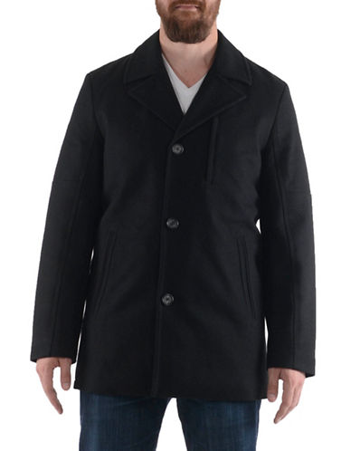 Perry Ellis Zipper Front Jacket-BLACK-Medium