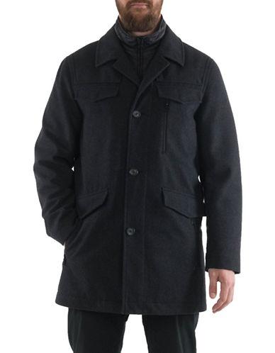 Perry Ellis Zipper Front Jacket-GREY-X-Large
