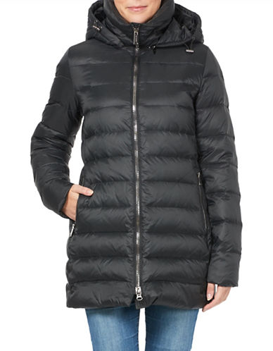 London Fog Mid-Weight Down Filled Jacket-BLACK-XX-Large