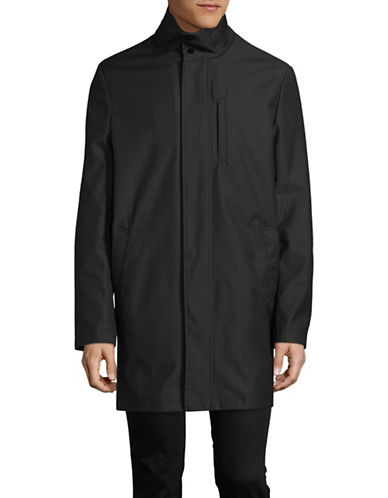 London Fog Raincoat with Quilted Bib-GREY-44 Regular