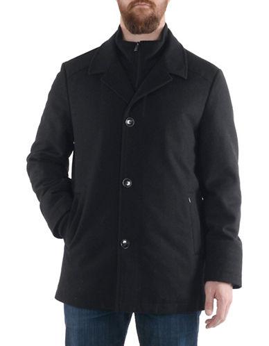 London Fog Notch Collar Essential Coat-BLACK-Small