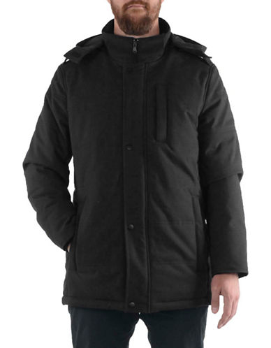 Perry Ellis Heavy Stretch Puffer-BLACK-X-Large