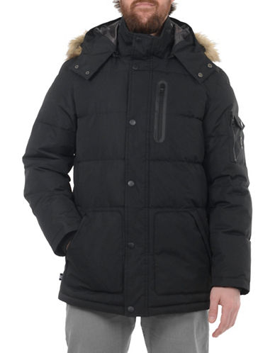 Nautica Taslon Thermatec Faux Fur-Trimmed Puffer Jacket-BLACK-Medium 89311099_BLACK_Medium