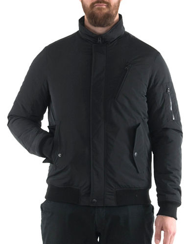 Buffalo David Bitton Bomber Jacket-BLACK-Medium
