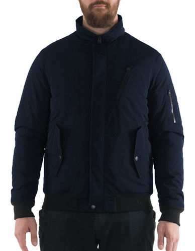 Buffalo David Bitton Bomber Jacket-NAVY-Small