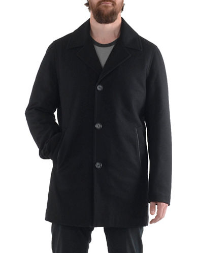 Perry Ellis SB Wool Coat-BLACK-XX-Large