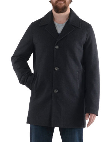 Perry Ellis SB Wool Coat-CHARCOAL-XX-Large