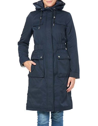 Laundry By Shelli Segal System Hooded Jacket-NAVY-Medium