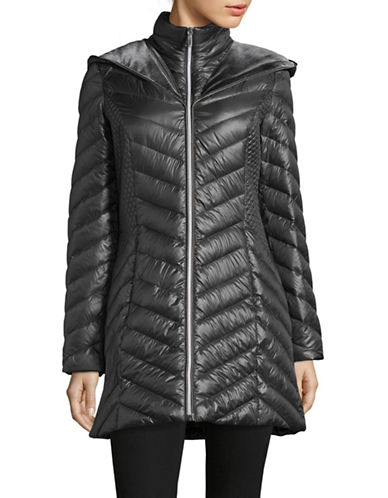 Laundry By Shelli Segal Quilted Puffer Jacket-CHARCOAL-Large