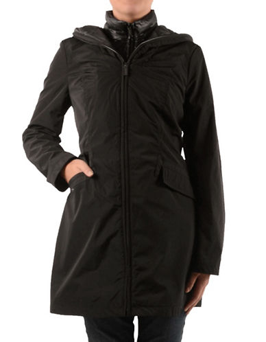 Laundry By Shelli Segal Anorak with Quilted Bib-BLACK-Large
