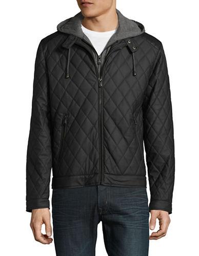 Buffalo David Bitton Diamond Hooded Jacket-BLACK-Small
