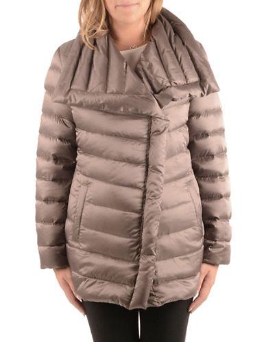 T Tahari Timeless Down Coat-WARM TAUPE-Medium