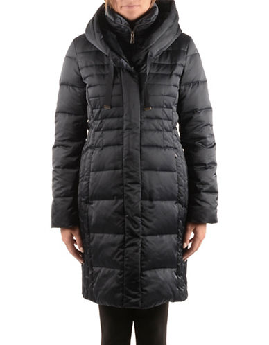 T Tahari Long-Sleeve Zip-Front Puffer Coat-GALAXY-X-Small