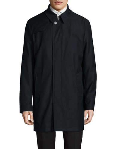 London Fog Classic Duster Rain Jacket-BLUE-40 Tall