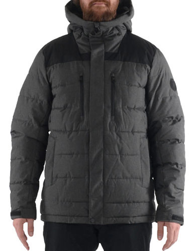 Buffalo David Bitton Thermatec Puffer Hooded Jacket-GREY-Large
