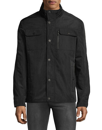 Buffalo David Bitton Softshell Snap Jacket-BLACK-Small