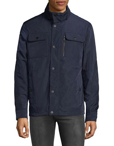 Buffalo David Bitton Softshell Snap Jacket-NAVY-Medium