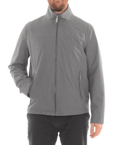 London Fog Full-Zip Stand Collar Jacket-GREY-XX-Large 89853916_GREY_XX-Large