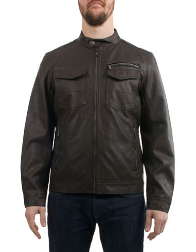 Buffalo David Bitton Classic Jacket-BROWN-X-Large 89835603_BROWN_X-Large