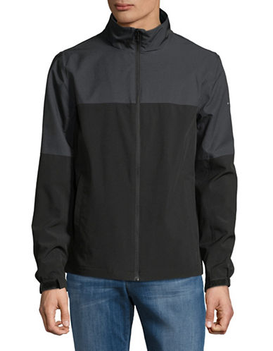Perry Ellis Colourblock Stretch Jacket-BLACK-XX-Large 89831587_BLACK_XX-Large